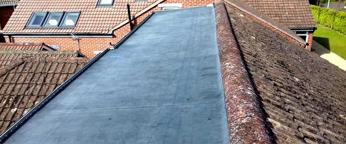 EPDM rubber membrane used for a roof repair by Roof Repairs Belfast, Northern Ireland