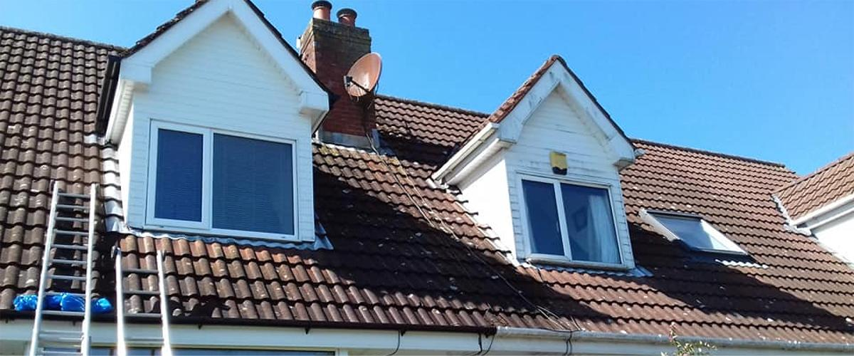 Roof cleaning by Roof Repairs Belfast, Northern Ireland